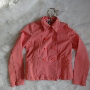 Gap Ladies Double Breasted Button up Salmon Pink